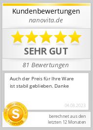 Shopbewertung - nanovita.de