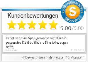 Shopbewertung - nikilace.de